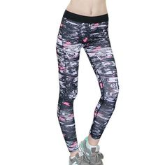 Women's Fitness Leggings Yoga Sports Pants Gym Running Tights Stretched