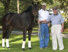 Sad FB post from Glen Hill Farm. My condolences to them. We lost a great mare today, Rich in Spirit. This is our favorite picture of her, at the farm with Leonard Lavin and Hap Proctor as a 2yo filly before shipping to Calder to win the John Franks Juvenile Fillies. She also won the G2 Regret Stakes and G3 Locust Grove at Churchill, and won another stakes race at Tampa as a 5 year old. She was probably our only horse that had won stakes at 2,3,4, and 5. She is the dam of Wishing Gate, winner…