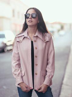 Blush pink blazer jacket