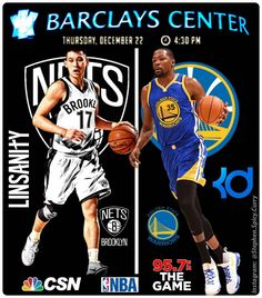1-1/2 hours to go till game time! KD and the Dubs roll into Barclays Center to take on Mr. Linsanity himself Jeremy Lin and the Brooklyn Nets at 4:30PM Pacific Time. Game's on CSN Bay Area and you can listen on 95.7 The Game. @jlin7 @warriors @brooklynnets @barclayscenter @csnauthentic @nba @957thegame #kevindurant #jeremylin #warriors #brooklynnets #barclayscenter #csnbayarea #nba #957thegame