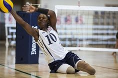 August 28, 2012 — Volleyball player trains for Paralympics