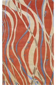 Home Decorators Collection - Tangled Area Rug  (wool) in TANGERINE- Item # 08920 - 8x11 - $1279