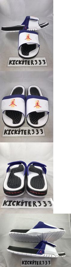 2bffabc0e1c2bc Sandals and Flip Flops 11504  Nike Air Jordan Hydro Viii 8 Retro 3 Peat  White