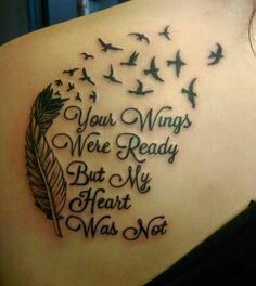 Memorial tattoo designs are one of the best ways to pay tribute to a loved one who has passed away. Oma Tattoos, Tatuajes Tattoos, Tattoos Skull, Feather Tattoos, Tribal Tattoos, Tatoos, Wing Tattoos, Dreamcatcher Tattoos, Tattoo Shirts