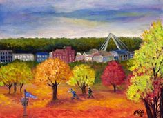 Plein Aire Painting at Waterworks Park by C.Rodriguez Allen