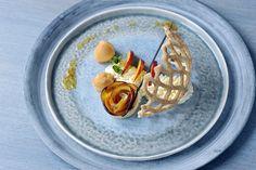 koninklijk nectarine-dessert