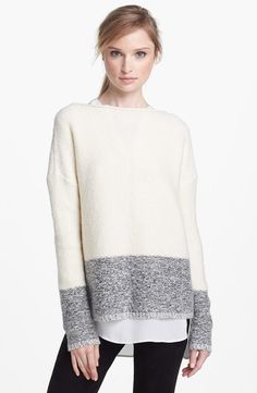 shop nordstrom color block sweater