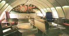 JAL (Japan AirLines) Boeing 747 Upper Deck Lounge -- Patrick Boulton