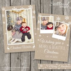 Christmas Card Templates 5 x 7 Christmas by StillbrookDesigns