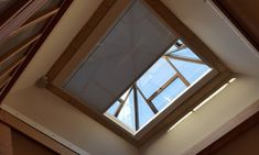 Zip blinds - are a wire-free option for shading roof windows, roof lanterns, skylights, conservatories, and Orangeries. Premier Blinds & Awnings use their own installation team. Smart House System, Glass Roof Extension, Flat Roof Skylights, Skylight Blinds, Roof Lantern, Roof Window, Smart Home, Lanterns, Extension Ideas