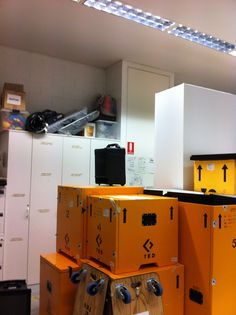 Storage and transport boxes.
