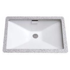 Toto LT931#01 Cotton Lloyd Undermount Vitreous China Bathroom Sink