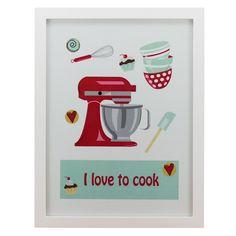 Quadro I love to Cook - Col. Exclusiva
