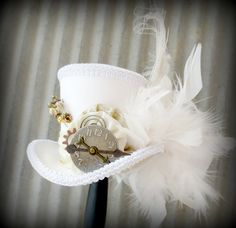 Inspiration: White Rabbit in Gold, Alice in Wonderland Hat