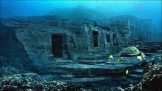 underwater pyramid in japan - yonaguni island