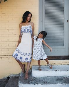 Mother Daughter Style via www.discodaydream.com