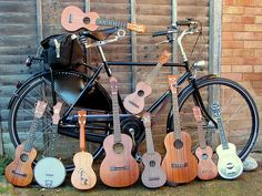 bicycle and guitars and ukeleles and banjo 8D