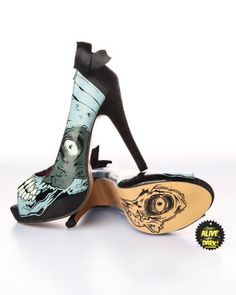 zombie shoes..for a zombie wedding...I think so!