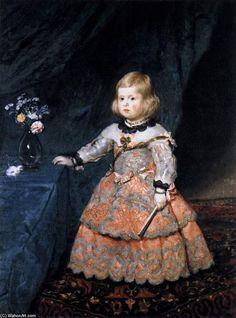 'Infanta Margarita', öl auf leinwand von Diego Velazquez (1599-1660, Spain)