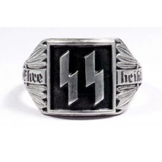 WW II German SS Offisers silver ring