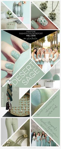 """Pantone Fashion """"Desert Sage"""" Color Report Fall 2015...my #5 fave color of the season."""