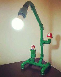 Diy luminária Mario