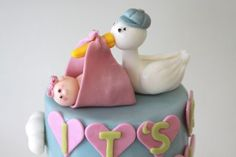 What an adorable cake from My Sweet and and Saucy bakery shop!  Great for baby showers.
