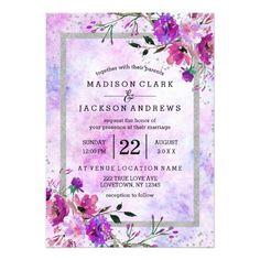 21 Best Purple Passion Wedding Images On Pinterest Invitation