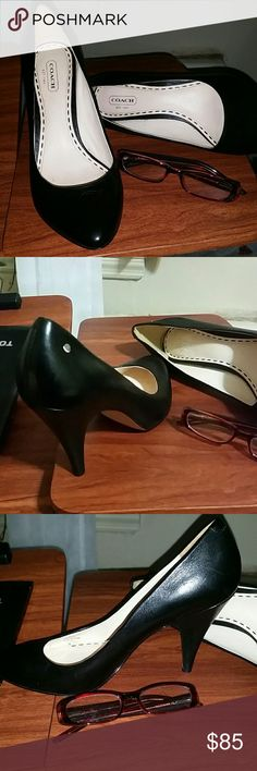 Coach pumps 7.5 Coach black leather pumps very good condition Coach Shoes Heels
