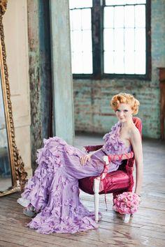 gorgeous lavender dress by Tadashi