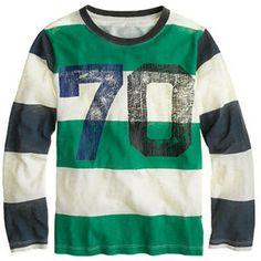 Boys' long-sleeve #70 tee on shopstyle.com
