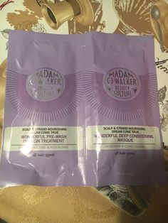 Madam C.J. Walker Beauty Culture Pre-wash treatment and deep condition masque deluxe samples #BonitaVoxBox