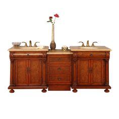 Silkroad Exclusive Ella White Oak Undermount Double Sink Bathroom Vanity  (Common: 59 In X 22 In; Actual: 58 In X 22 In) | Pinterest | Double Sink  Bathroom, ...