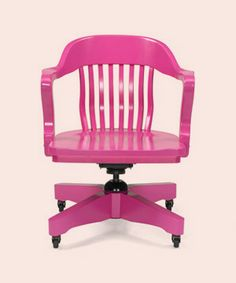 Hot Pink swivel chair - I think Lauren would LOVE this!  I wonder if it's spray painted?