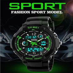 Skmei Brand Sports Watches Fashion Casual Watches Men's S-Shock Quartz Wrist Watch Analog Military LED Digit Watch Montre Homme