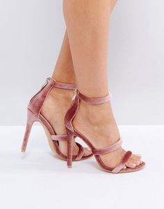 Get this Public Desire's heeled sandals now! Click for more details. Worldwide shipping. Public Desire Dusty Pink Heeled Sandals - Pink: Sandals by Public Desire, Velvet style upper, Zip-back fastening, Triple strap design, High heel, Wipe with a soft cloth, 100% Textile Upper, Heel height: 11cm/4.5. Manchester footwear label Public Desire aims to tread (stylishly) where others don�t. Its ghillie sandals and gladiator heels help tie up your new-season fashion goals, while pom-pom trims and…