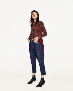 ZARA - WOMAN - CHECKED SHIRT WITH FRILLS