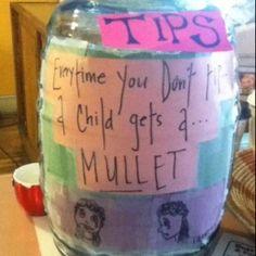 Mullet tip jar