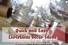 Quick and Easy Christmas Decor Ideas | Hip Homeschool Moms