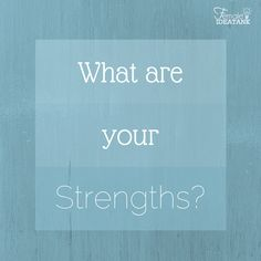 Do you know what your #strengths are and how they benefit your #work?