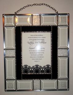 Your wedding invitation encased beautifully in stain glass. A lasting keepsake to hang on your wall and cherish forever.....