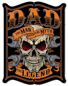 Dad The Man The Myth The legend Skull Decal Sticker Yeti Cup Helmet window Camper Motorhome or Trailer Decal Available in 5 sizes Harley Davidson Art, Classic Harley Davidson, Harley Davidson Motorcycles, Steve Mcdonald, Minions, Biker Quotes, Vintage Metal Signs, Garage Art, Skull Art