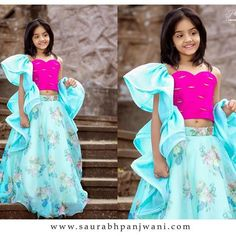 Image may contain: 2 people, people standing Kids Dress Wear, Kids Gown, Little Girl Dresses, Girls Dresses, Baby Dresses, Formal Dresses, Kids Indian Wear, Kids Ethnic Wear, Baby Dress Design