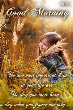 Dva nejdůležitější dny  v Tvém životě jsou: Den,kdy ses narodil.. a den,kdy přijdeš na to proč...