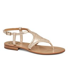 ab542a80c5272 Add metallic charm to your warm weather step with these sumptuous leather  sandals that effortlessly transition