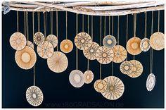 Fadengrafik Sterne mit Bäckergarn ǀ DIY Adventsdeko