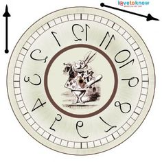 printable clock/Alice in wonderland