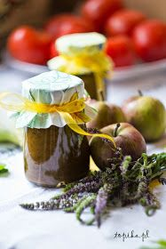 Topika: Sos miętowy Caramel Apples, Pudding, Table Decorations, Desserts, Food, Mint Sauce, Sauces, Tailgate Desserts, Deserts