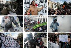 Protesta estudiantil en Chile (16 mayo, 2012) Fotos de: Nelson Arancibia.