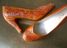 Tooled leather pumps... absolutely LOVE these pumps!!!